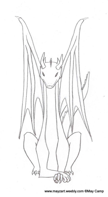 Dragon Front View Drawing 2009 Descriptions Mayzart