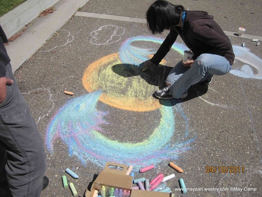 Click to see the finished Chalk Art